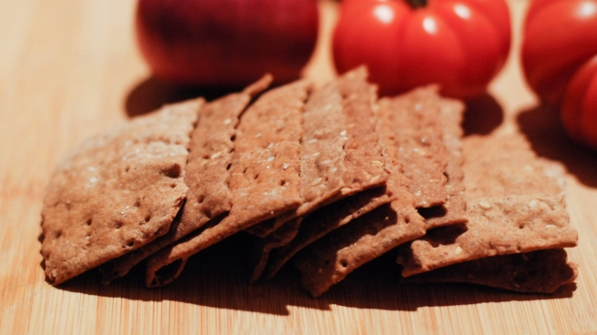 Crackers con farina di grillo