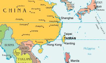 Taiwan-mappa