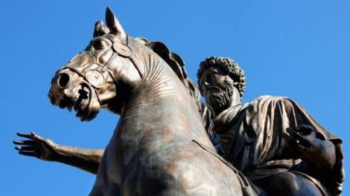 Statue Marco Aurelio at the Capitoline Hill in Rome, Italy